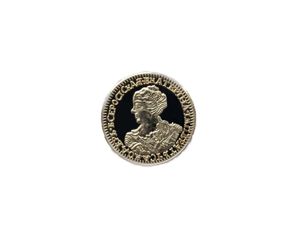 Копия золотых 2 рублей. Изготовленных в качестве ПРУФ