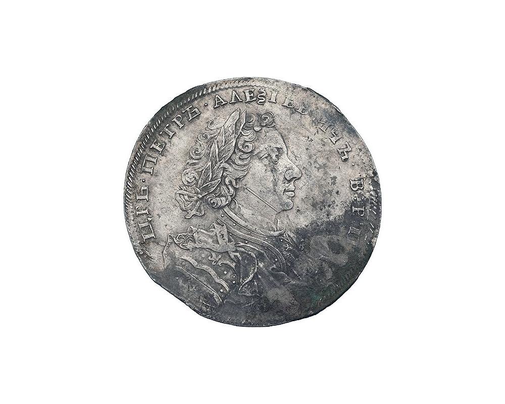 Лицевая сторона рубля 1707 года. Работы Гаупта