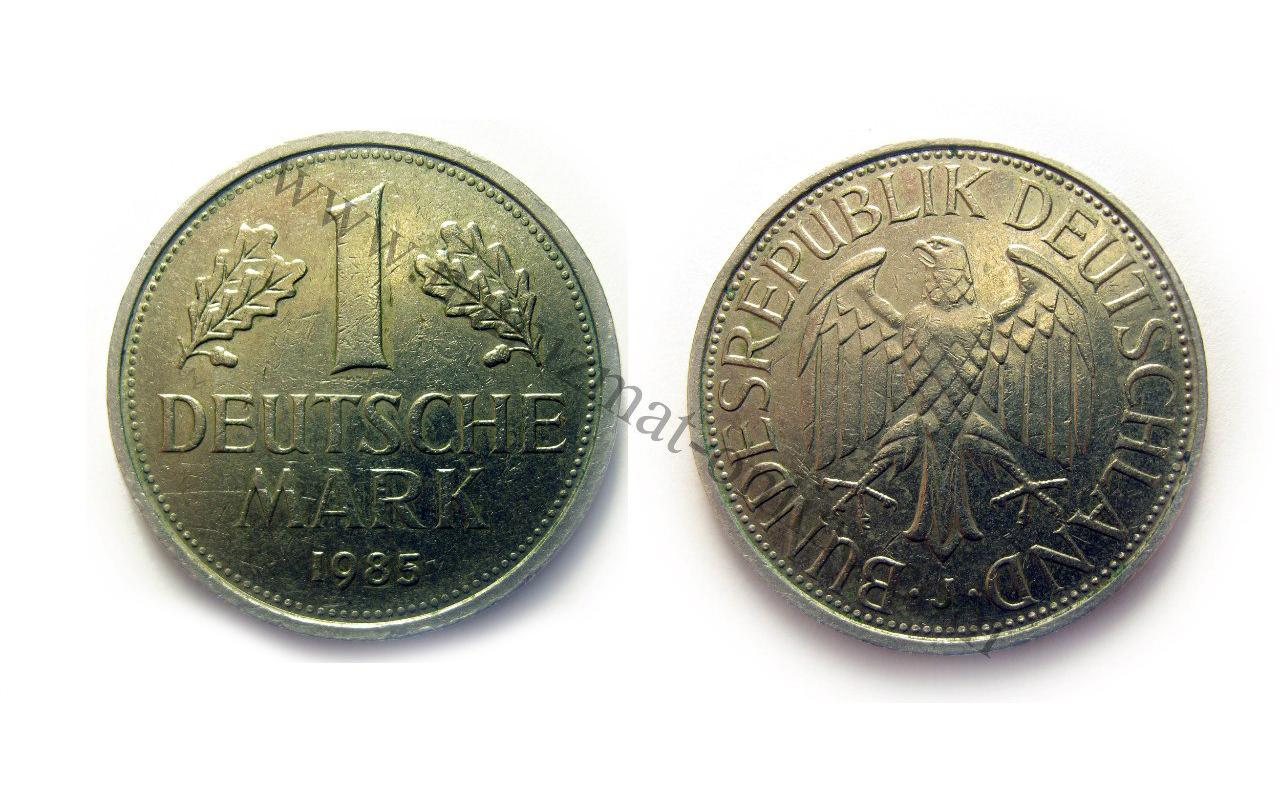 1 Германская Марка 1985 год. ФРГ. Аверс и Реверс