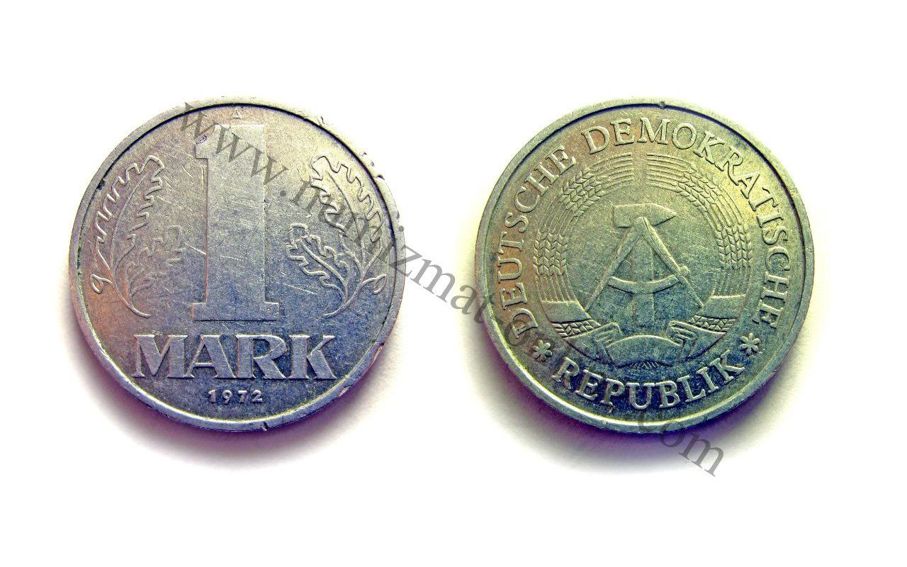 1 Марка 1972 года. ГДР