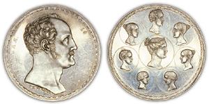 1/2 рубля 1836 года. Фамильный рубль Николая I
