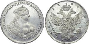 Полтина 1737-1740 года. Петербургский тип