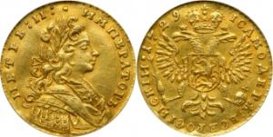 Золотой Червонец 1729 года