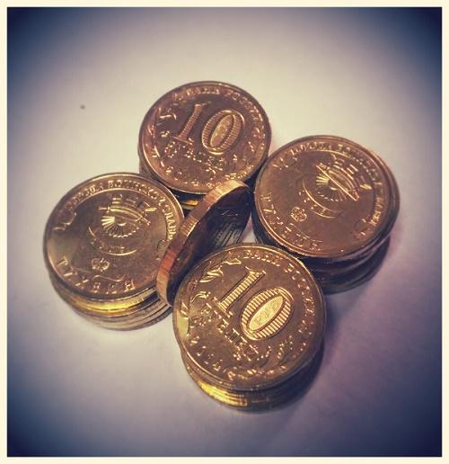 10 рублей 2014г. Тихвин
