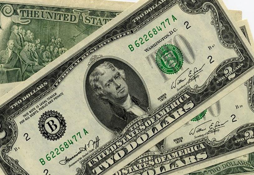 2 доллара одной купюрой цена украина монета франции