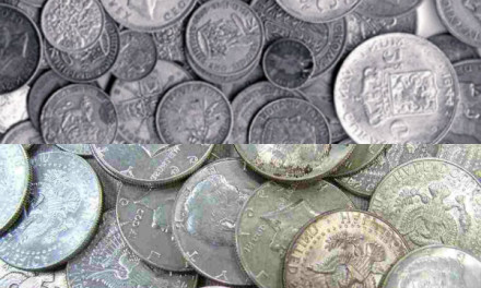 Чистка серебряных монет