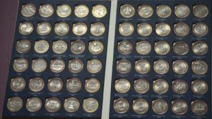 Альбом с биметаллическими монетами России