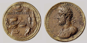 Античная монета в биметалле