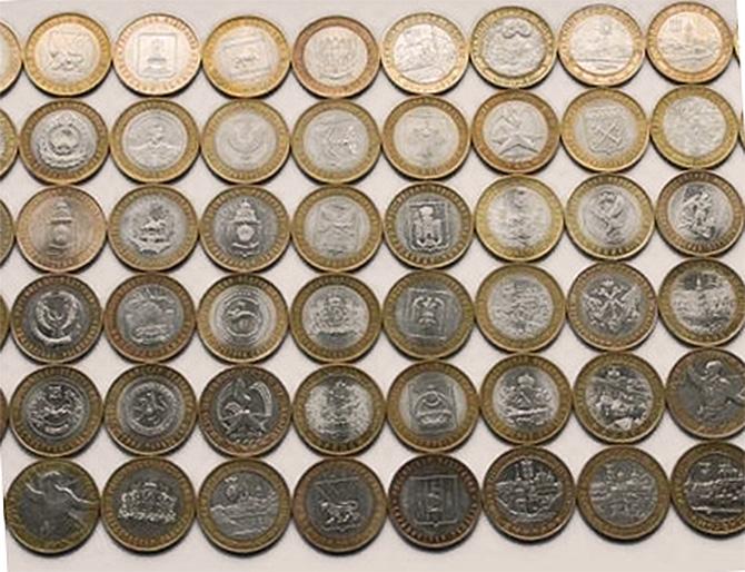 Продам десятирублевые юбилейные монеты денежная единица в чили