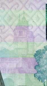 Ирисовый раскат на купюре 1000 рублей