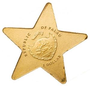 Монета государства Палау в форме звезды