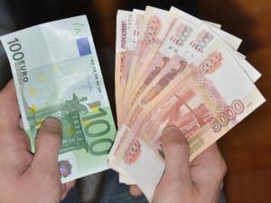 Обмен рублей на евро