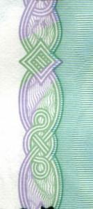 Элемент орловской печати на банкноте 1000 рублей