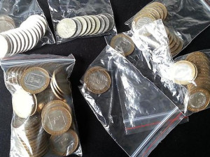 Правильно подготовленные монеты для обмена в банке