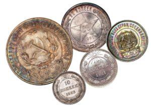 Монеты регулярного чекана 1921-1923 гг.