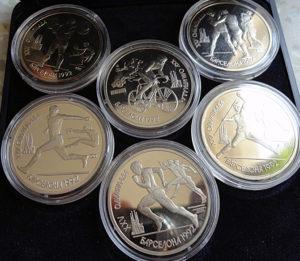Монеты олимпийской серии 1992 год