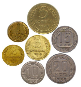 Монеты регулярного чекана 1939 года