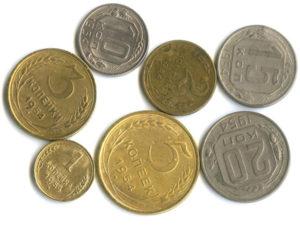 Монеты регулярного чекана 1954 года