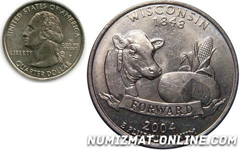 25 центов штат Вмсконсин