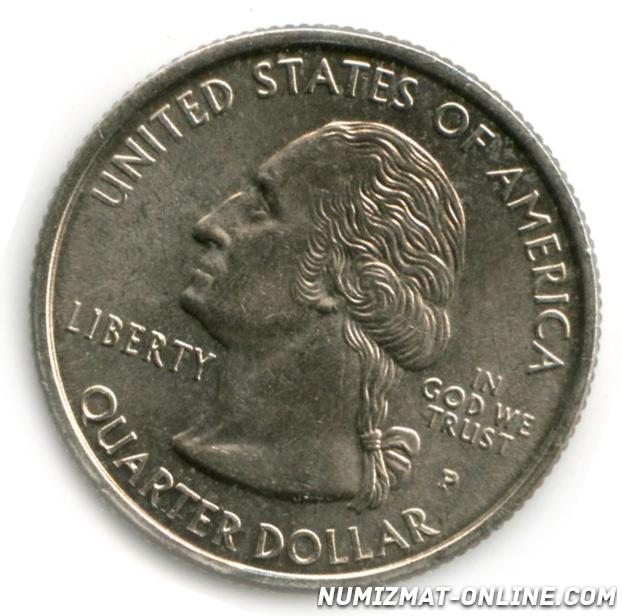 25 центов 2000 года цена серебряная монета соболь