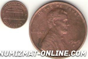 цент Линкольна 1969