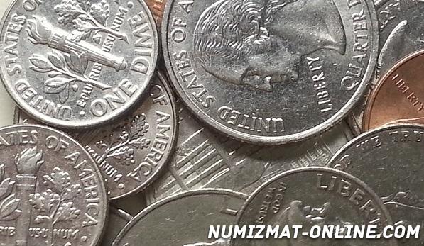 Сколько стоит 1 дайм США и другие редкие монеты Америки