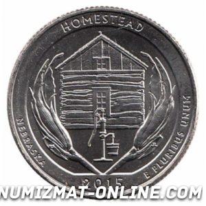 25 центов Монумент Гомстед