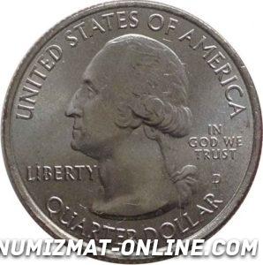 25 центов США (аверс)
